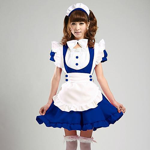 Симпатичные девушки Многоцветный Выбор Форма ткань костюм горничной Lightinthebox 1718.000