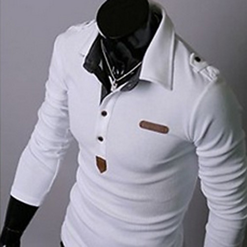 U & F Мужчины Приспособлена белая футболка Lightinthebox 816.000