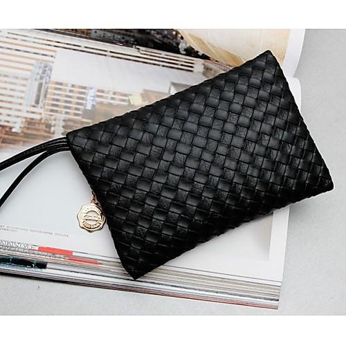 Gmn Женская Черный вязать Проверьте сумка сцепления (черный) Lightinthebox 85.000