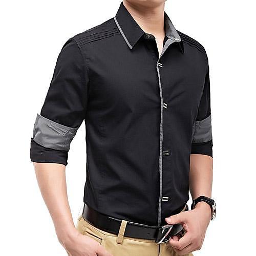 мужской тонкий хлопок футболка с длинным рукавом Lightinthebox 921.000