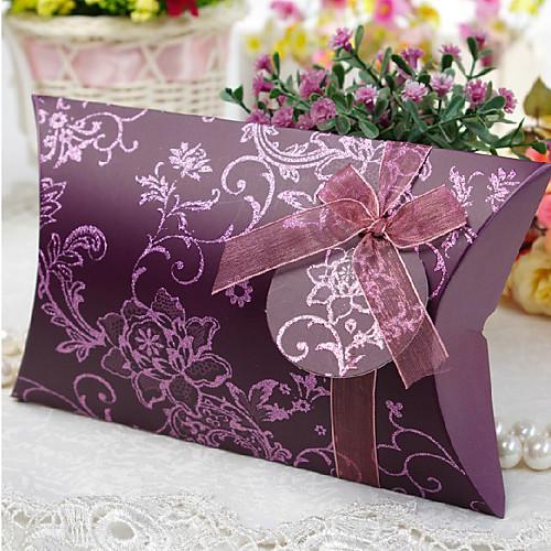 Тиснением Подушка Shaped коробки благосклонности с Gimp - Набор из 6 (больше цветов) Lightinthebox 339.000