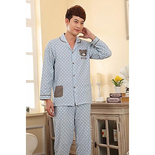 Мужская Застежка с длинным рукавом Lounge одежда Lightinthebox 1284.000
