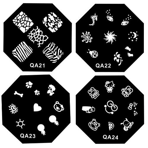 1PCS ногтей штамп штамповка изображения шаблона плиты QA Серия № 21-52 (ассорти шаблон) Lightinthebox 85.000