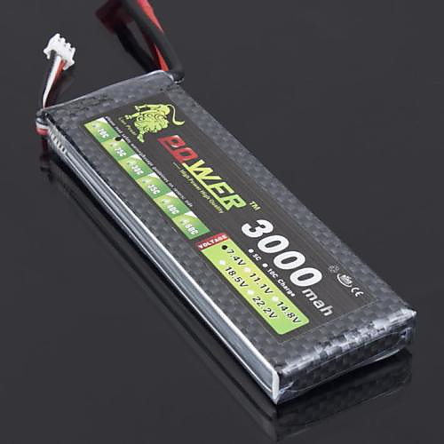 ЛЕВ 7.4V 3000mah 2S 25C Li-Po батарея (Т Plug) Lightinthebox 1073.000