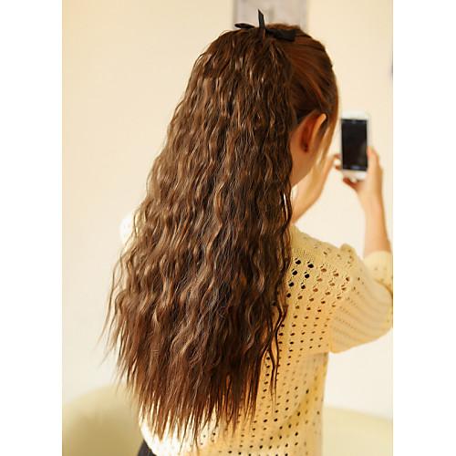 18-дюймовый ленточку Синтетические Темно-русый Кукуруза стигмы Стиль завитые Ponytail Наращивание волос Lightinthebox 987.000