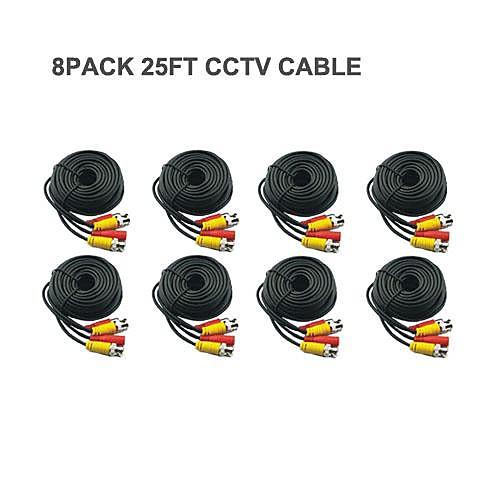 8 PCS 25 Ft BNC видео и Сила DC 12V CCTV Кабельные Lightinthebox 687.000