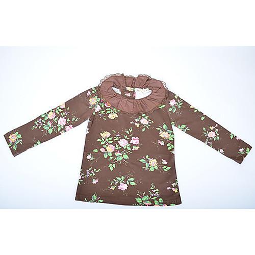 Кружевной воротник цветочный принт Блузки для девочек-подростков Lightinthebox 1159.000