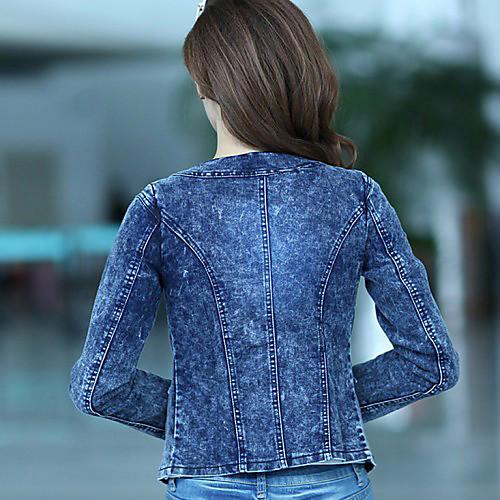 Женская Демин Squin куртка Lightinthebox 1451.000