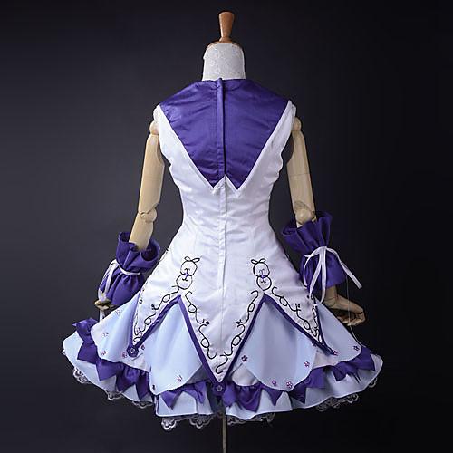 Vocaloid Снег Мику Белый & Фиолетовый Косплей Костюм Lightinthebox 6445.000