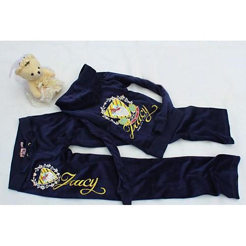 Женская утолщение Бархат Вышивка Повседневная Спортивный костюм Lightinthebox 2206.000