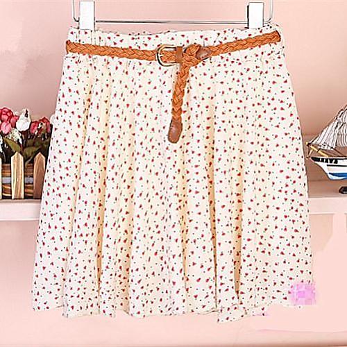 Женская Печать шифон юбка Lightinthebox 586.000