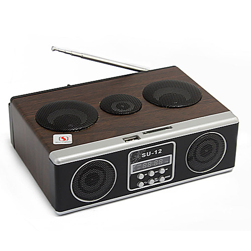 СУ-12 Мини звуковой ящик MP3-плеер Мобильный спикер Бумбокс FM-радио SD Card Reader USB Lightinthebox 1286.000