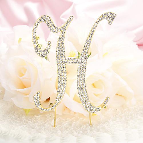 монограмма позолоченный металл стразы письмо свадебный торт цилиндр Lightinthebox 386.000