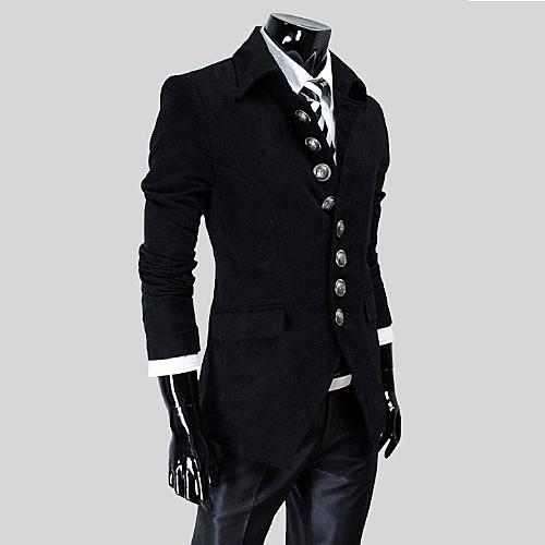 Reverie Uomo Мужская Встроенная куртка черноты Lightinthebox 1718.000