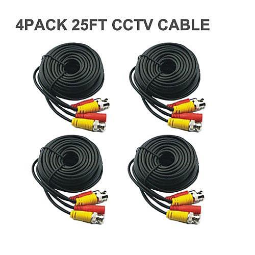 4 PCS 25 Ft BNC видео и Сила DC 12V CCTV Кабельные Lightinthebox 730.000
