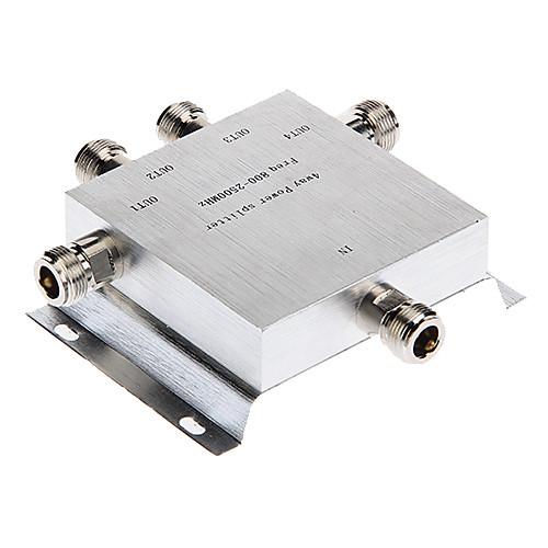 4 Way Out 800-2500MHz Частота рацию / переговорные разветвитель питания для N Кабель с разъемом Lightinthebox 730.000