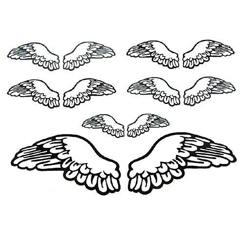 5 шт Крыло ангела Водонепроницаемый Временные татуировки (11см  15см) Lightinthebox 429.000