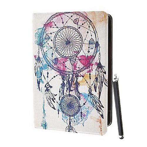 Перья в шаблоне воздуха Цветные рисования искусственная кожа Полный чехол тела с подставкой и без стилуса Стилус для IPad Air