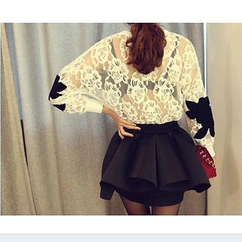 Женская сексуальная Чистая Пряжа цветочным узором кружева рубашка Lightinthebox 1228.000