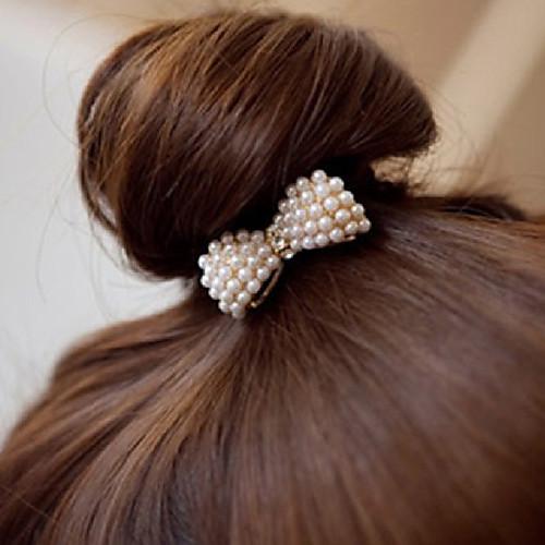 Canlyn Женская мода лук с Перл волос Tie Lightinthebox 42.000