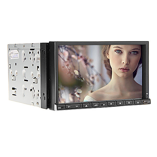 7Inch 2 Дин В-Dash DVD-плеер с GPS, IPOD, RDS, BT, сенсорный экран, ТВ Lightinthebox 8593.000