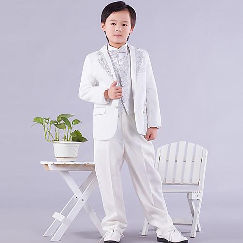 кольцо медведя смокинг костюмы белые с шесть штук страница мальчика наряды (1145547) Lightinthebox 1649.000