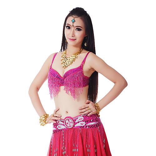 Танцевальная одежда Женская блесток кисти полиэстер Танец живота бюстгальтер (больше цветов) Lightinthebox 755.000