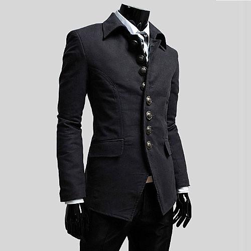 Reverie Uomo Мужская Встроенная Темно-серый пиджак Lightinthebox 1804.000