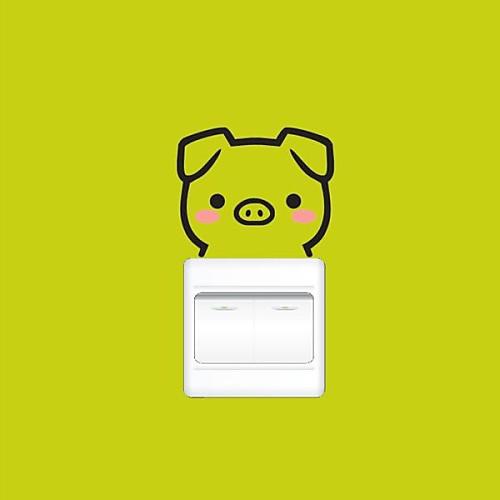 Животные мультфильм Свинья Вставить стены стикеры Lightinthebox 386.000