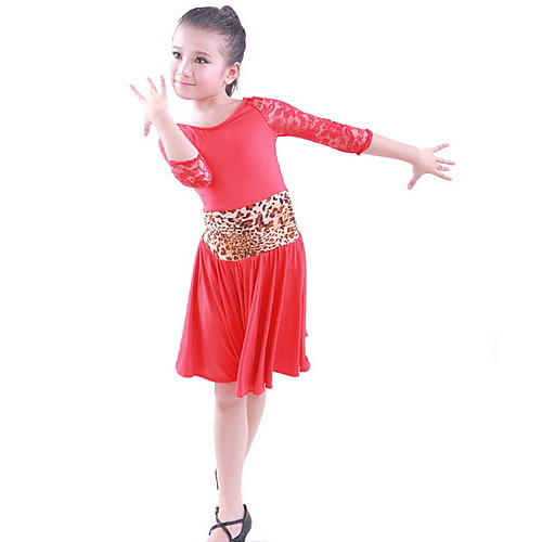 Вискоза Кружева Leopard / горошек латинского танца платье Производительность Детская (больше цветов) Lightinthebox 1121.000