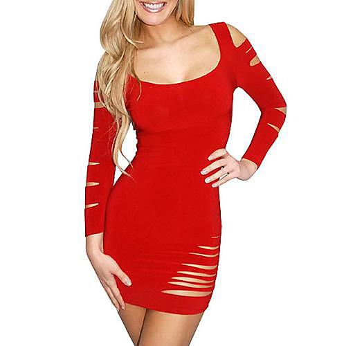 QSMX Женская Западная Упоминание Хип Сексуальная Клуб платье принцессы (красный) Lightinthebox 2576.000