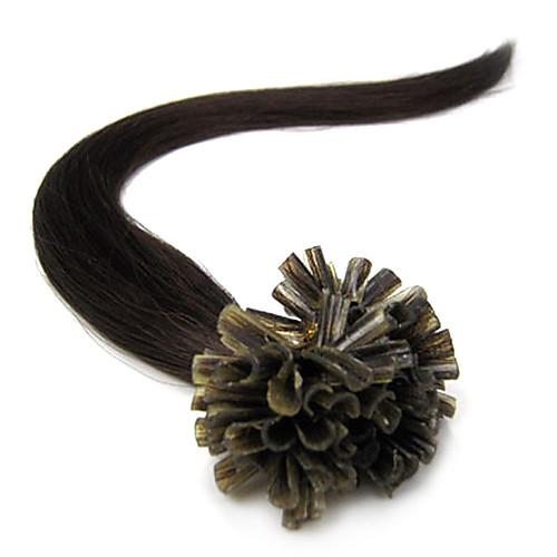 Реми 26inch ногтей Кератин / U слияние наконечником Прямые Fusion Наращивание волос Более темные цвета 100s/pake 0,7 г / с Lightinthebox 3695.000