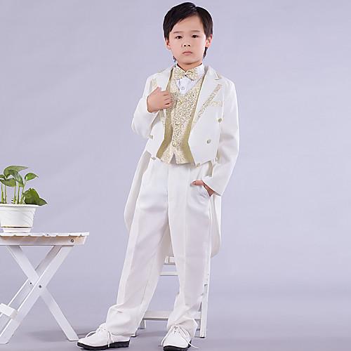 страница мальчик подходит шесть штук белый и золотой ласточкин хвост кольцом на предъявителя костюм (1145550) Lightinthebox 1718.000
