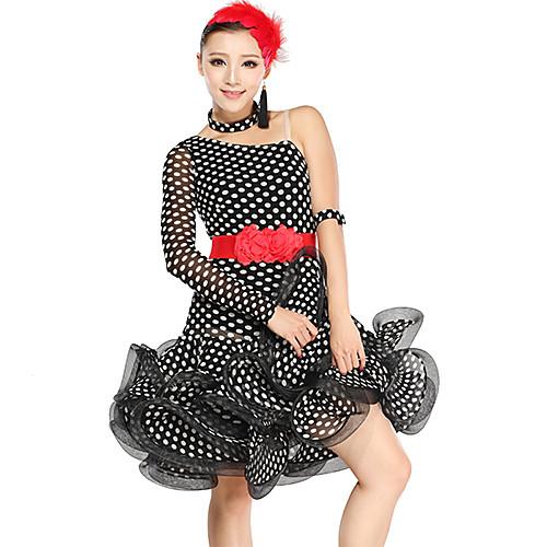 Танцевальная одежда Женская горошек вискоза Тюль латинского танца платье Lightinthebox 4726.000
