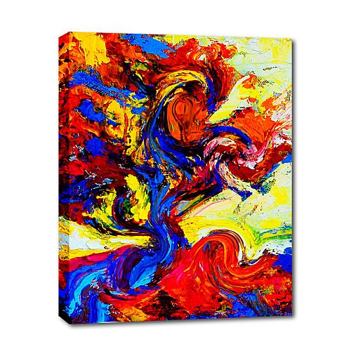 ручной росписью маслом абстрактного дуб поп-арт, живопись с натянутой рамы готовы повесить Lightinthebox 3437.000