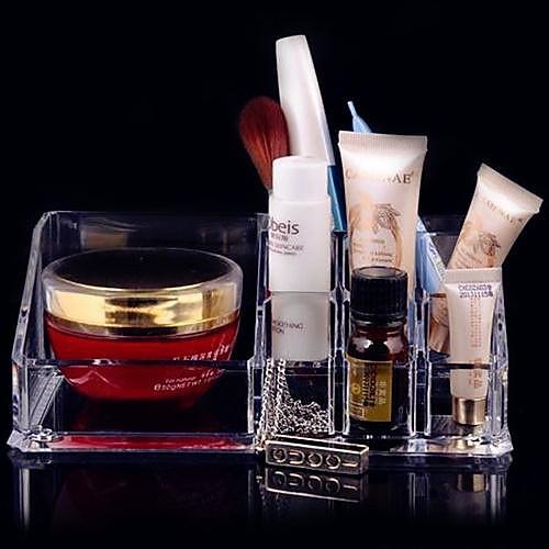 Акриловая Прозрачная подставка Косметика хранения кисти для макияжа Пот Квадрат Косметическая Организатор Lightinthebox 386.000
