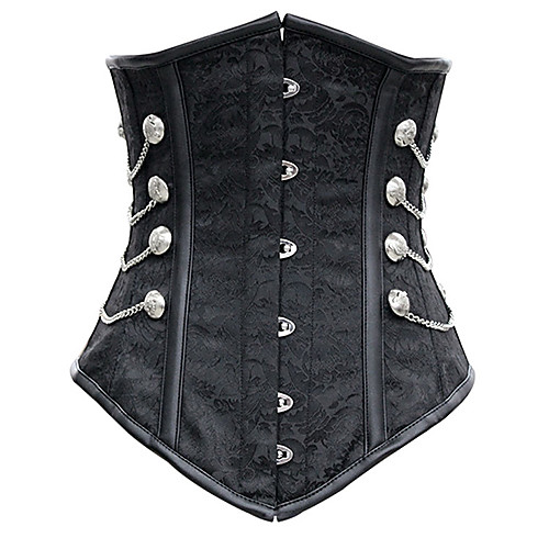 Женская Благородный черный атласный корсет под грудью Lightinthebox 865.000