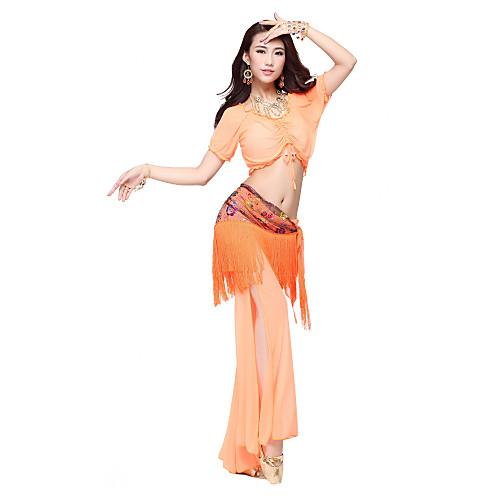 Танцевальная одежда Женская Нейлон Красочный цветочный печати кисти пояса танцульки живота (больше цветов) Lightinthebox 755.000