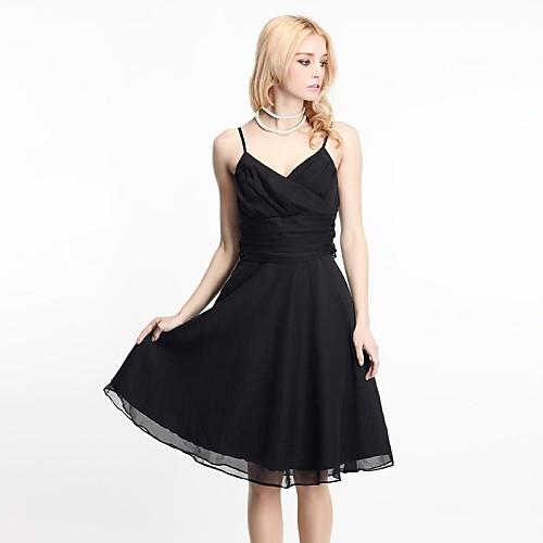 Женская V-Колла ремень шифон талии платье Lightinthebox 1368.000