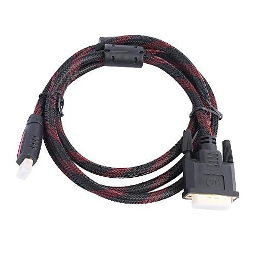 HDMI (мужчины) к DVI (мужчины) Кабель-адаптер для домашнего кинотеатра (1,5 м) Lightinthebox 257.000