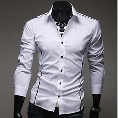 U & F Мужчины Стенд шея белые рубашки Lightinthebox 730.000