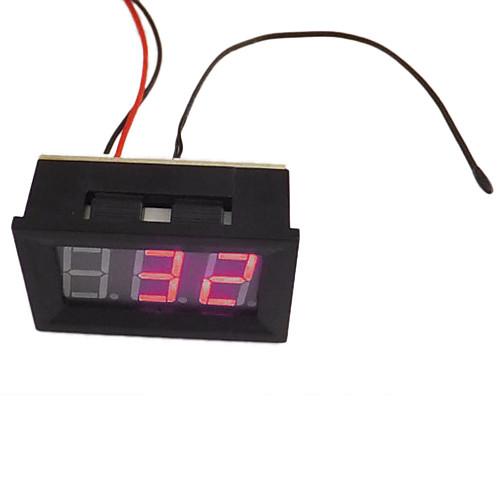 DC контроля температуры Измеритель-30 градусов до 70 градусов красный светодиод Цифровые термометры DC Panel Meter Главная термометр Lightinthebox 343.000