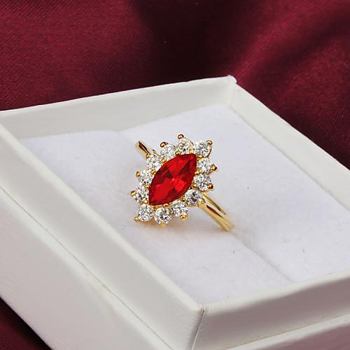 Высокая Урожай Качество Позолоченные Красный Цирконий с четкими Rhinestone овальный женского кольца Lightinthebox 154.000