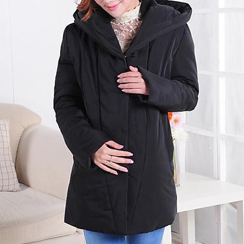 2013 Средней длины Свободный Плюс размер материнства утолщение капюшоном вниз Пальто для беременных Верхняя одежда Топ Lightinthebox 1535.000