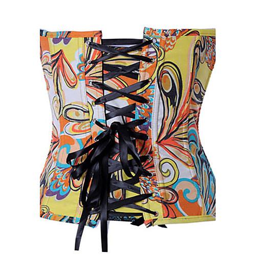 Женская Цветные Блоки корсет с-стринги Lightinthebox 586.000