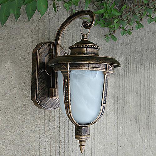 Открытый настенный светильник, 1 свет, классический алюминиевый Стекло Живопись Lightinthebox 2148.000