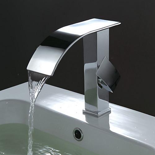 ванной кран раковины современный дизайн смеситель водопад (хромированная отделка) Lightinthebox 3437.000
