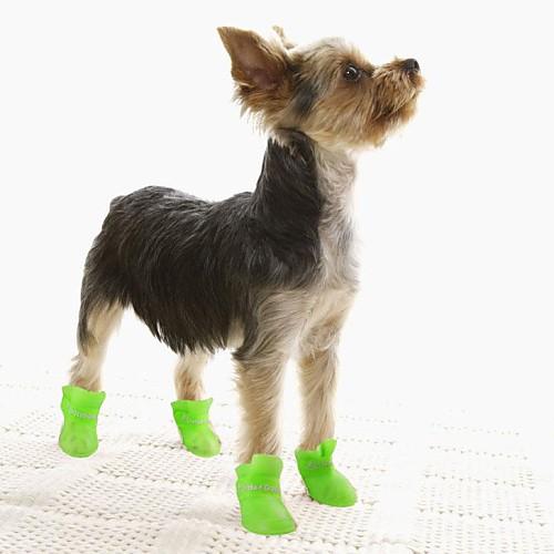 Собаки Кошка Собака Ботинки и сапоги Водонепроницаемый Однотонный Желтый Синий Розовый Для домашних животных / Зима, Черный