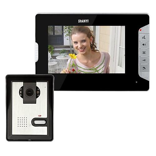 7-дюймовый видео-телефон двери дверной звонок Домофон Kit 1-камера 1-монитор ночного видения от Lightinthebox.com INT