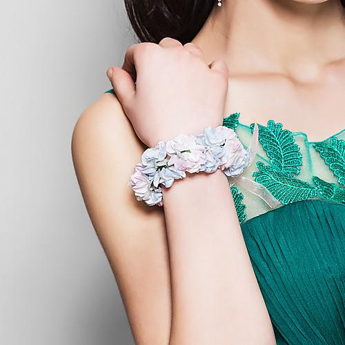 прекрасный голубой с розовой бумаге цветок свадьба девушки цветка / свадебные запястье цветок Lightinthebox 128.000
